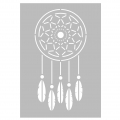 Decorative stencil medium size 29,7 x 21 cm Dream catcher