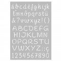 Decorative stencil medium size 29,7 x 21 cm Capital and lowercase alphabet