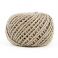 Braided jute cord 2mm Natural x 60 m