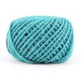 Braided jute cord 2mm Turquoise x 60 m