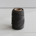Waxed cotton thread for macrame - Kesi Art - 1 mm Charbonneux x 20 m