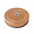 Metal lid with a hole for glass jar - coppery x1