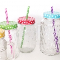 Glass jar 500 ml ethnic pattern x1