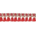 Galon with tassels 10mm Red/Gold Tone x1m