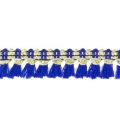 Galon with tassels 10mm Blue/Gold Tone x1m