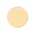 Round Medal 11 mm Gold filled 14 carats x1