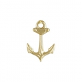 Charm anchor 14 mm Gold filled 14 karats x1