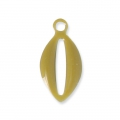 Epoxy resin metal shell charm 10 mm Olive x 8