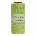 Bobbin of 125 meters of Bakers Twine 1 mm White/Lime