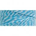 Bobbin of 125 meters of Bakers Twine 1 mm White/Blue
