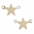 Gold filled stars spacers with 2 loops 14K 11.5x7 mm x2