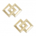 Gold filled square spacers 14K 11x8 mm x2