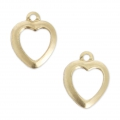 Gold filled heart charms 14K 10 mm x2