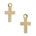 Gold filled crosses charms 14K 10 mm x2