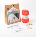 Kit DIY macrame suspension coral x1
