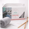 Kit DIY A Knitted Pouffe grey chiné x1