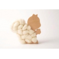 Kit DIY Wooden squirrel to customize for interior decoration x1