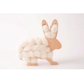Kit DIY Wooden rabbit to customize for interior decoration x1