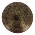 Glass Cabochon by Puca® 25 mm Opaque Choco Luster Bronze x 1