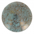 Glass Cabochon by Puca® 25 mm Opaque Aqua Luster Bronze x 1