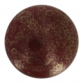 Glass Cabochon by Puca® 25 mm Red Corail Luster Bronze x 1