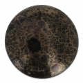 Glass Cabochon by Puca® 25 mm Jet Luster Bronze x 1