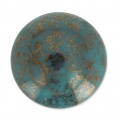 Glass Cabochon by Puca® 18 mm Green Turquoise Luster Bronze x 1