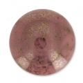 Glass Cabochon by Puca® 18 mm Opaque Rose Luster Bronze x 1