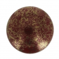 Glass Cabochon by Puca® 18 mm Red Corail Luster Bronze x 1