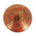 Glass Cabochon by Puca® 18 mm Mandarine Luster Bronze x 1