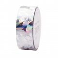 Adhesive Tape  - Paper Poetry Tape 20 mm Hologramme Silver crystal x10m