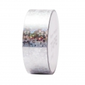 Adhesive Tape  - Paper Poetry Tape 20 mm Hologramme Silver flower x10m