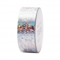 Adhesive Tape  - Paper Poetry Tape 20 mm Hologramme Silver circle x10m