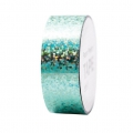 Adhesive Tape  - Paper Poetry Tape 20 mm Hologramme Turquoise dots x10m