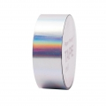 Adhesive Tape  - Paper Poetry Tape 20 mm Hologramme Iridescent silver tone x10m