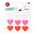 Iron-on badges - Magical Summer Light pink heart/Pink fluo/Coral fluo