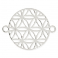 925 Sterling Silver Spacer Mandalas flower 15mm x1