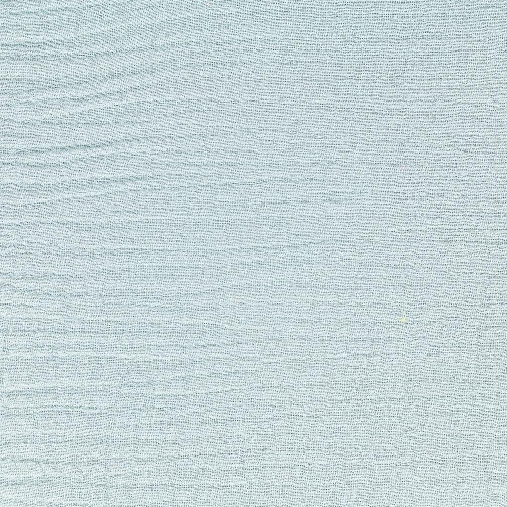 Double Gauze Cotton Fabric Light Blue X10cm Great Pictures