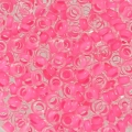 Toho seed beads Demi Round 8/0 TO8RDR0971 - Crystal Mat Neon Pink Lined x5g