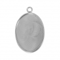Stainless steel Pendant for 20x15 flat back cabochon x1