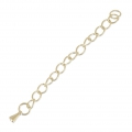 Stainless steel extension chain 70mm Gold Tone