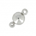 Stainless steel magnetic ball clasp 6 mm x1