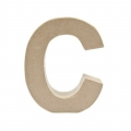 Big papier mache letter C - 17.5 x 16 cm to decorate