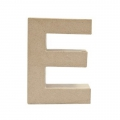 Big papier mache letter E - 17.5 x 13 cm to decorate