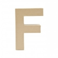 Big papier mache letter F - 17.5 x 11.5 cm to decorate