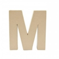 Big papier mache letter M - 17.5 x 17 cm to decorate