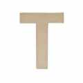 Big papier mache letter T - 17.5 x 14 cm to decorate