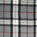 Cotton Mammoth Flannel Fabric with tiles - Grey Plaid x10cm