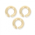 14K Gold filled jumprings open 4 x 0.8 mm x10