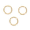 14K Gold filled jumprings open 6 x 0.6mm x10